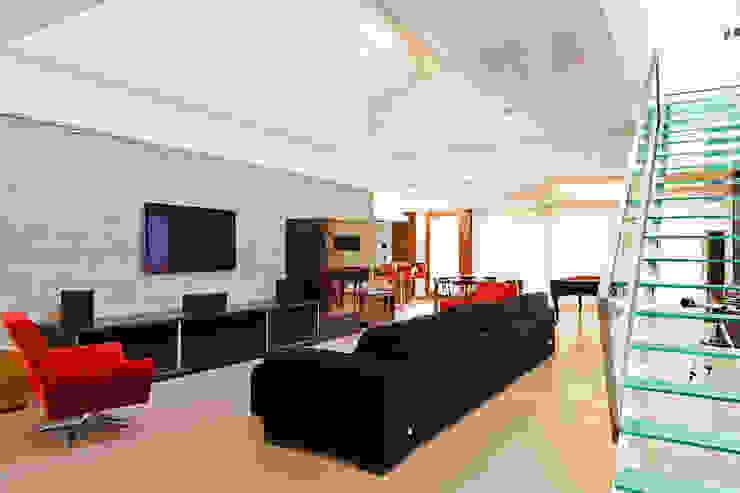 Salones modernos de 4D Arquitetura Moderno