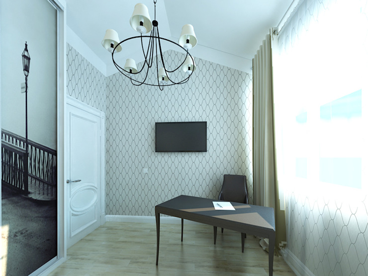 Душевный интерьер Рабочий кабинет в классическом стиле от Дизайн студия Александра Скирды ВЕРСАЛЬПРОЕКТ Классический