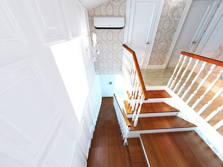 Душевный интерьер Коридор, прихожая и лестница в классическом стиле от Дизайн студия Александра Скирды ВЕРСАЛЬПРОЕКТ Классический
