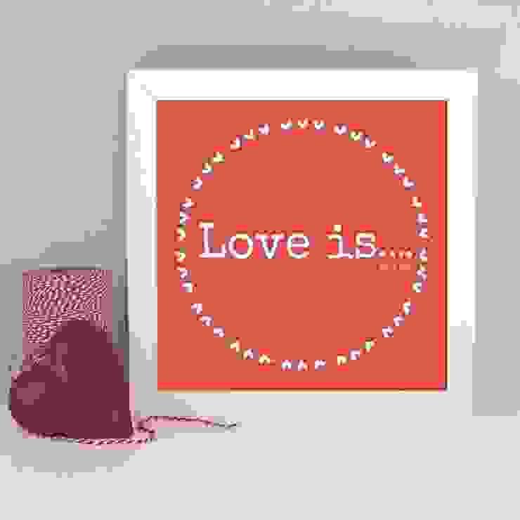 Love is... framed art print: modern  by Always Sparkle, Modern