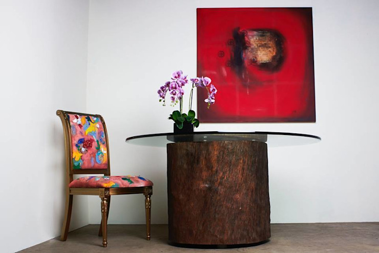 Mesa de tronco Salas de jantar rústicas por Boulle Rústico