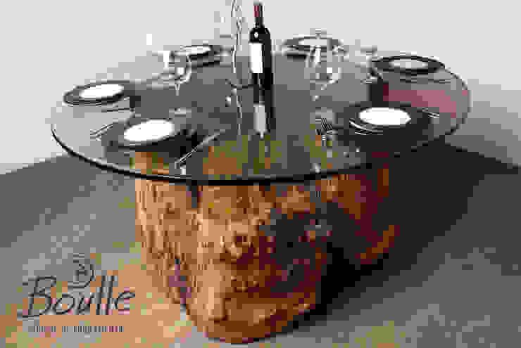 Mesa de tronco ocado por Boulle Rústico