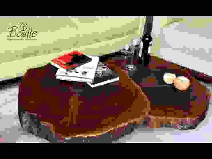 Mesas de centro em madeira maciça Salas de estar rústicas por Boulle Rústico