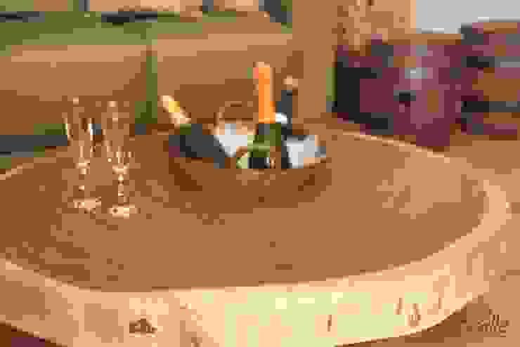Mesa de centro com champanheira Adegas rústicas por Boulle Rústico