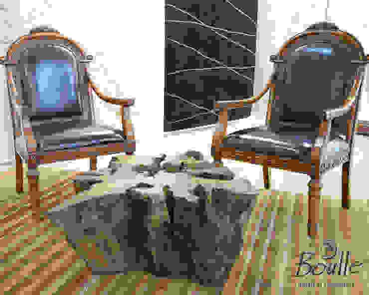 Mesa de centro de raiz Escritórios rústicos por Boulle Rústico