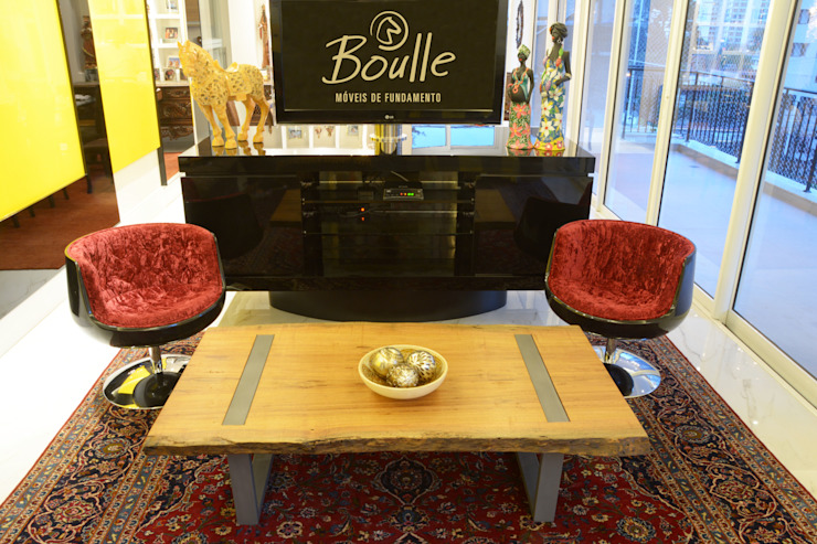 Mesa de centro Boulle Salas de jantar rústicas por Boulle Rústico