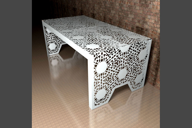 Modern dining tables in Nottingham Lace: modern  by Laser cut Furniture & Screens, Modern