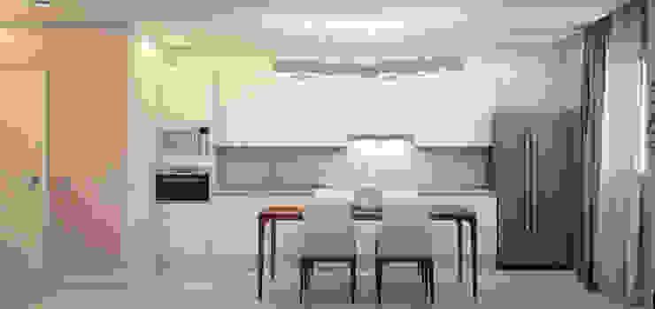 ミニマルデザインの キッチン の Marina Sarkisyan ミニマル