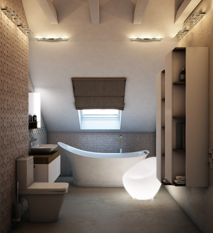 Minimalist style bathrooms by Marina Sarkisyan Minimalist
