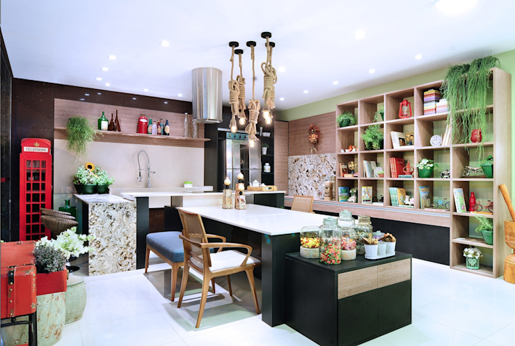 Eclectic style kitchen by Adriana Scartaris: Design e Interiores em São Paulo Eclectic