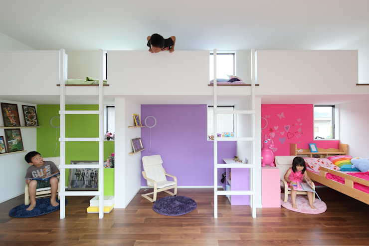 House in Fukuchiyama Minimalist nursery/kids room by arakawa Architects & Associates Minimalist