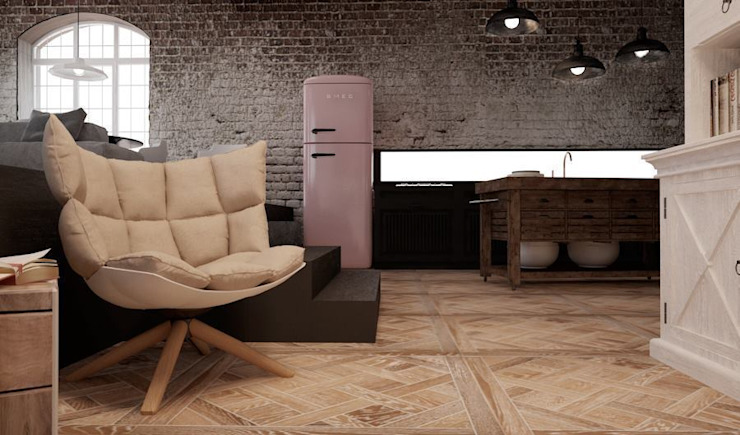 Shoreditch Project The Wood Galleries Pareti & Pavimenti in stile moderno