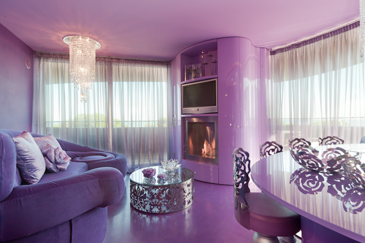 Eclectic style living room by STUDIO CERON & CERON Eclectic
