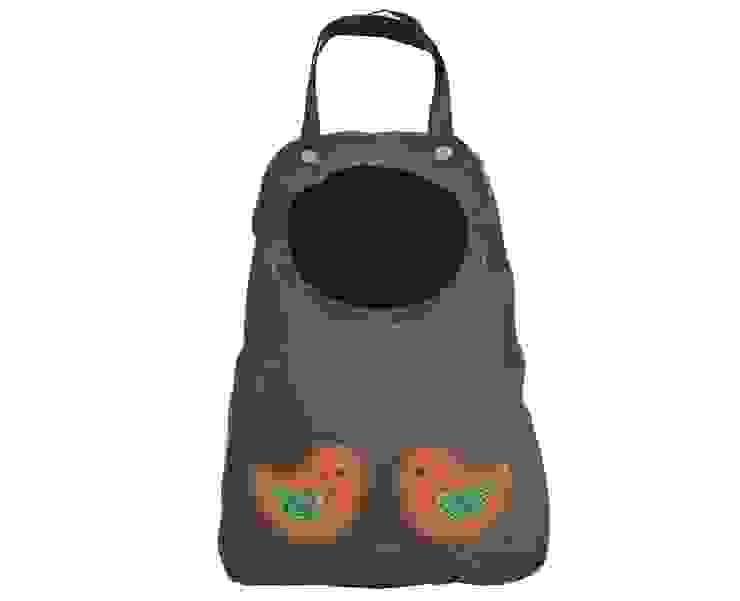 worek w kształcie łezki z ptaszkami folk od Drewniany Guzik Wiejski
