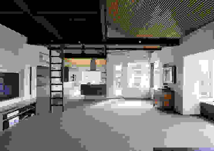 上野毛の住宅 renovation モダンデザインの ダイニング の 井上洋介建築研究所 モダン