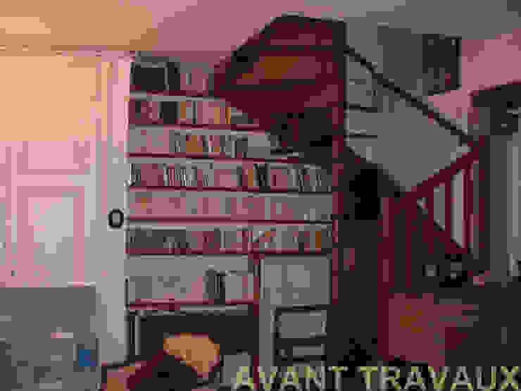 Rénovation appartement A. Lyon (6ème) Salon classique par Marion Bochirol Architecte d'Intérieur CFAI Classique