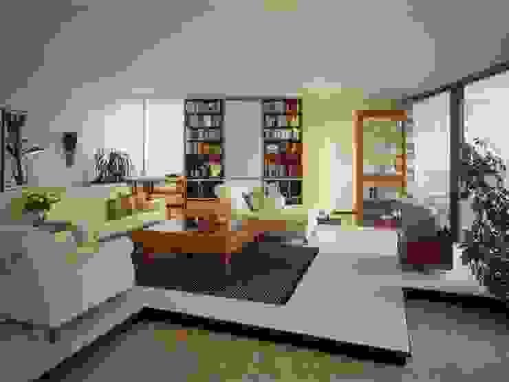 Wohnung im Olympiadorf, München Moderne Wohnzimmer von PLANUNG-RAUM-DESIGN Anne Batisweiler Modern
