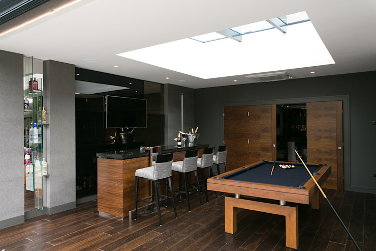 Projekty,  Pokój multimedialny zaprojektowane przez Finite Solutions, Minimalistyczny