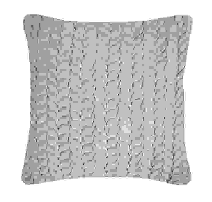 Hand Smocked Leaf Cotton Velvet Cushion in Duck Egg, 40x40cm Nitin Goyal London BedroomTextiles