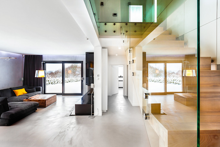 COCO Pracownia projektowania wnętrz Pasillos, vestíbulos y escaleras de estilo minimalista