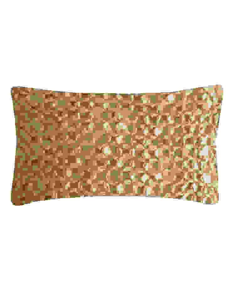 Hand Smocked Flower Cushion in Cream, 30x50cm Nitin Goyal London BedroomTextiles