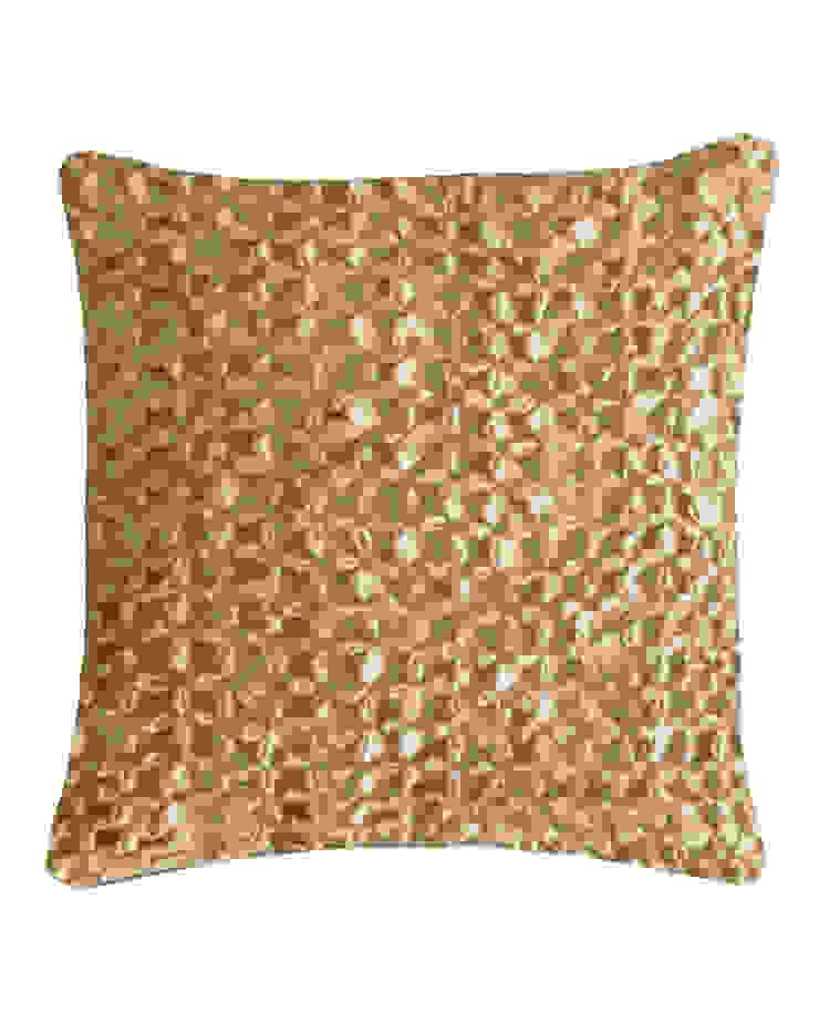 Hand Smocked Flower Cushion in Cream, 50x50cm Nitin Goyal London BedroomTextiles