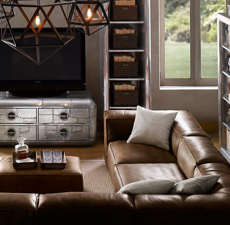 Sofá de cuero sillabarcelona -New Chelsea- SILLABARCELONA SalonesSofás y sillones