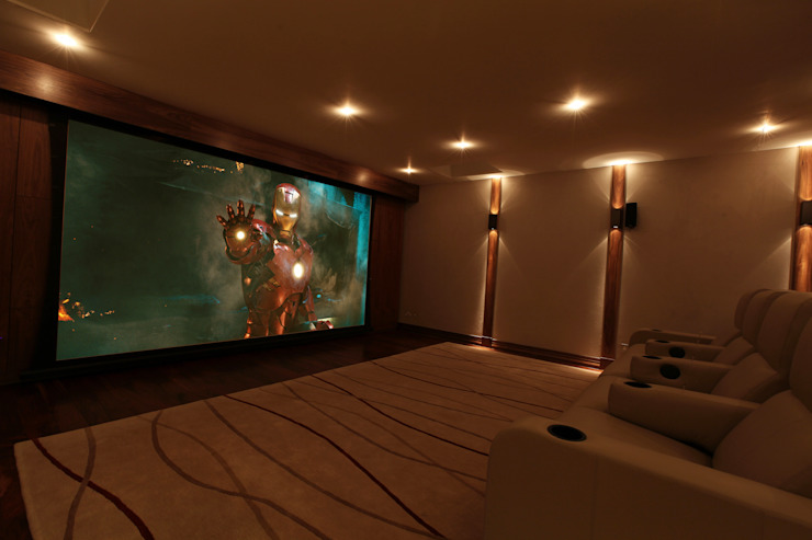 What Lies Beneath Home Cinema Modern media room by Finite Solutions Modern