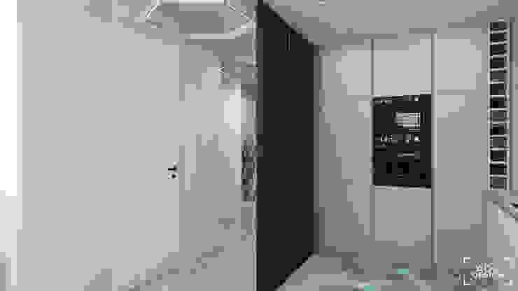63 m2 Minimalistyczna kuchnia od ADV Design Minimalistyczny