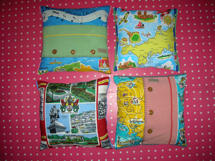 Devon and Cornwall cushions: eclectic  by Random Makes, Eclectic