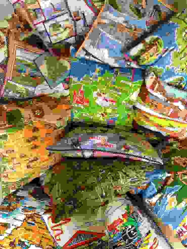 Souvenir cushions: eclectic  by Random Makes, Eclectic