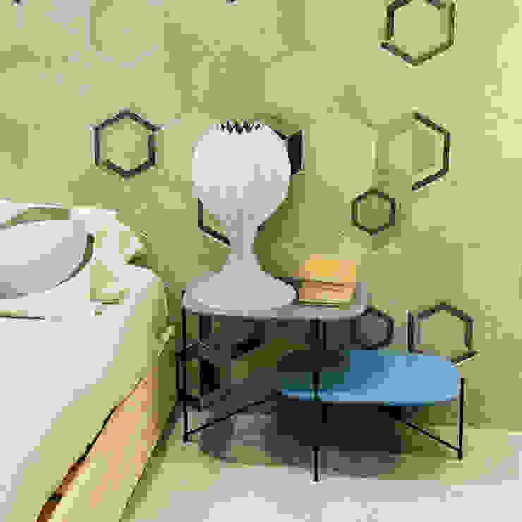 白SHIRO table lamp_violet to orange dots shading di metrocuadro-design Minimalista