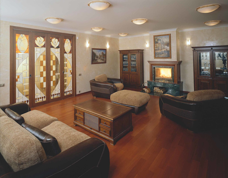 Интерьеры двухуровневой квартиры на ул. Куусинена Медиа комнаты в эклектичном стиле от дизайн студия 'LusiSarkis ' Эклектичный