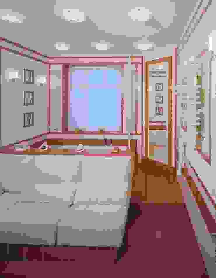 Интерьеры двухуровневой квартиры на ул. Куусинена Спа в эклектичном стиле от дизайн студия 'LusiSarkis ' Эклектичный