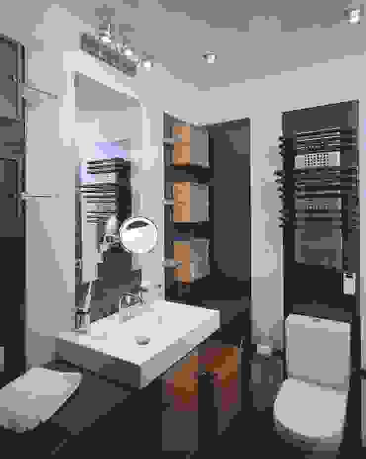 Интерьеры двухуровневой квартиры на ул. Куусинена Ванная комната в стиле минимализм от дизайн студия 'LusiSarkis ' Минимализм