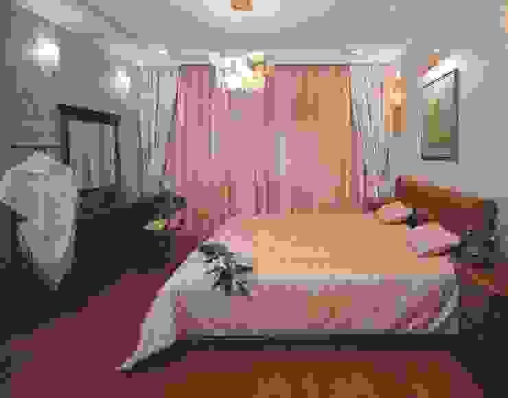 Интерьеры двухуровневой квартиры на ул. Куусинена Спальня в эклектичном стиле от дизайн студия 'LusiSarkis ' Эклектичный