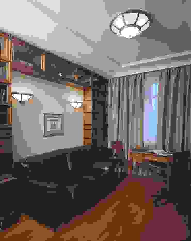 Интерьеры двухуровневой квартиры на ул. Куусинена Рабочий кабинет в классическом стиле от дизайн студия 'LusiSarkis ' Классический