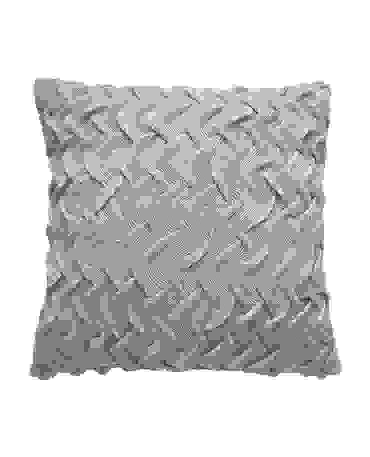 Hand Pleated Basket Cushion in Silver Grey, 40x40cm: modern  by Nitin Goyal London, Modern