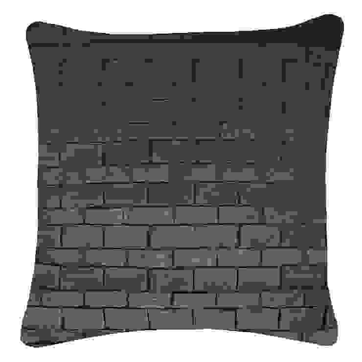 Hand Pleated Origami Cushion in Gunmetal, 50x50cm: modern  by Nitin Goyal London, Modern