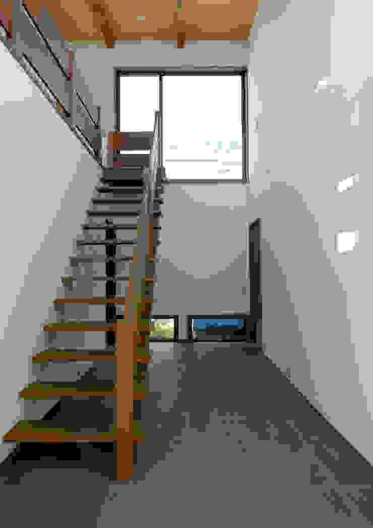 諏訪の住宅 モダンスタイルの 玄関&廊下&階段 の 井上洋介建築研究所 モダン
