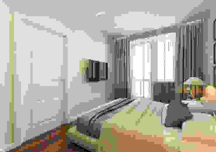 Спальня Спальня в скандинавском стиле от MIODESIGN Скандинавский