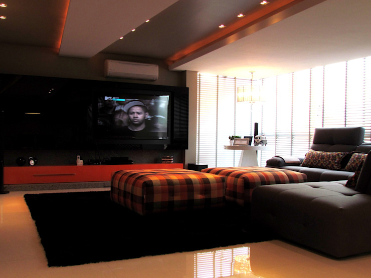 Apartamento Jovem Solteiro Salas de estar modernas por Arq. Leonardo Silva Moderno