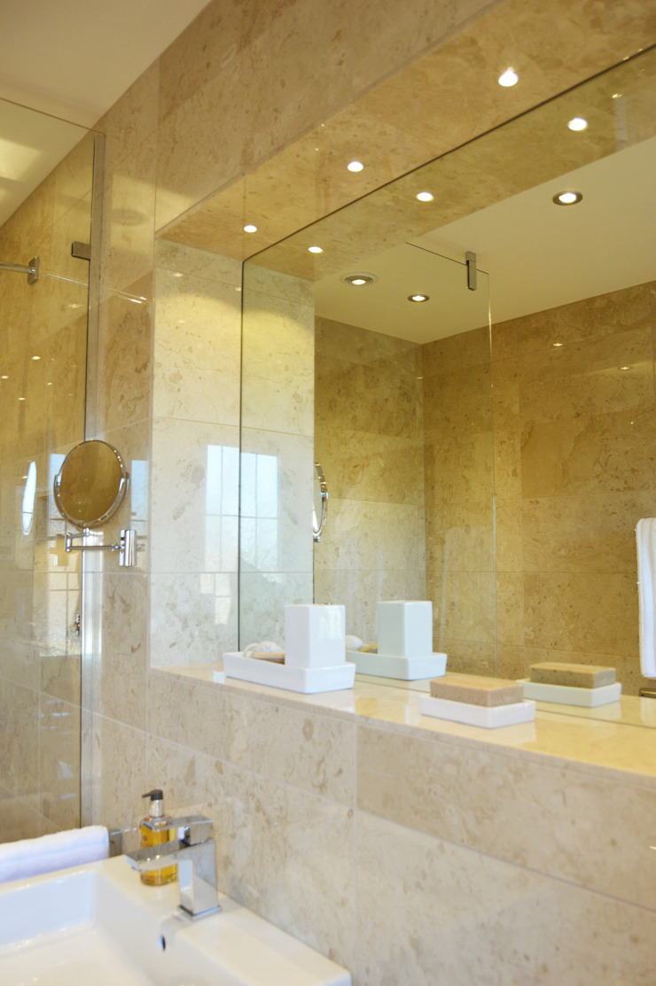Built in Mirror with spotlights Modern bathroom by Loveridge Kitchens & Bathrooms Modern
