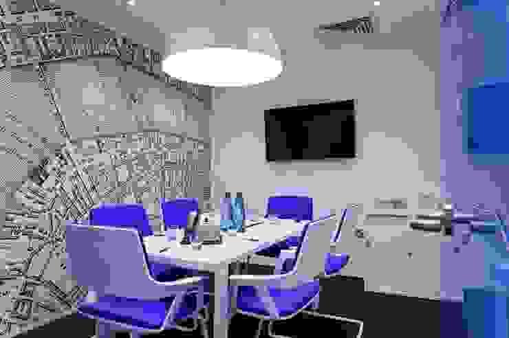 Bespoke map wallcoverings Modern office buildings by Tektura Wallcoverings Modern