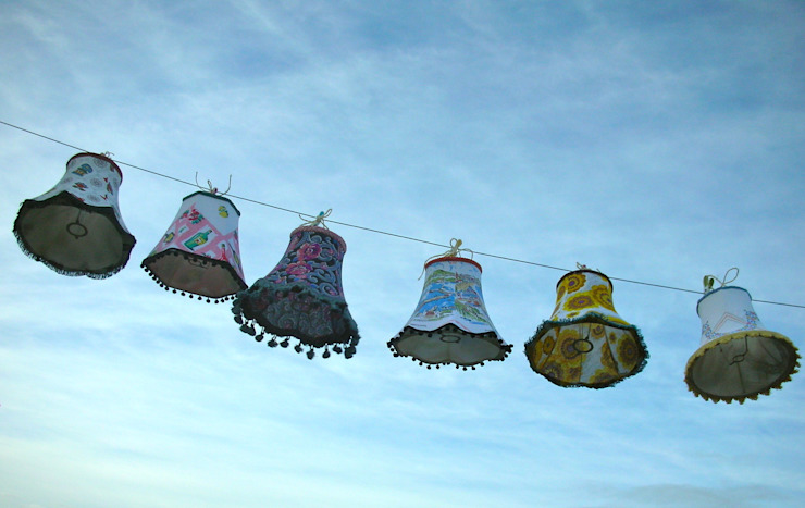 Small assorted lampshades: eclectic  by Random Makes, Eclectic