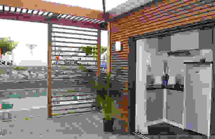 Aquashell Minimalist balcony, veranda & terrace by Floating Habitats T/A AQUASHELL Minimalist
