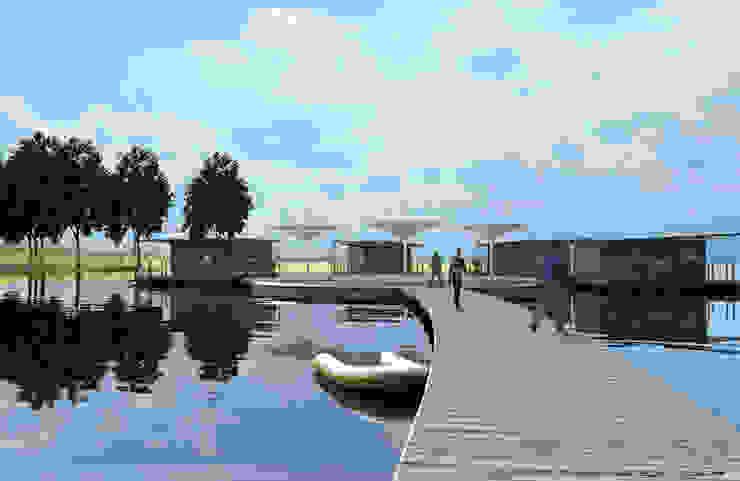 Aquashell Village concept Modern hotels by Floating Habitats T/A AQUASHELL Modern