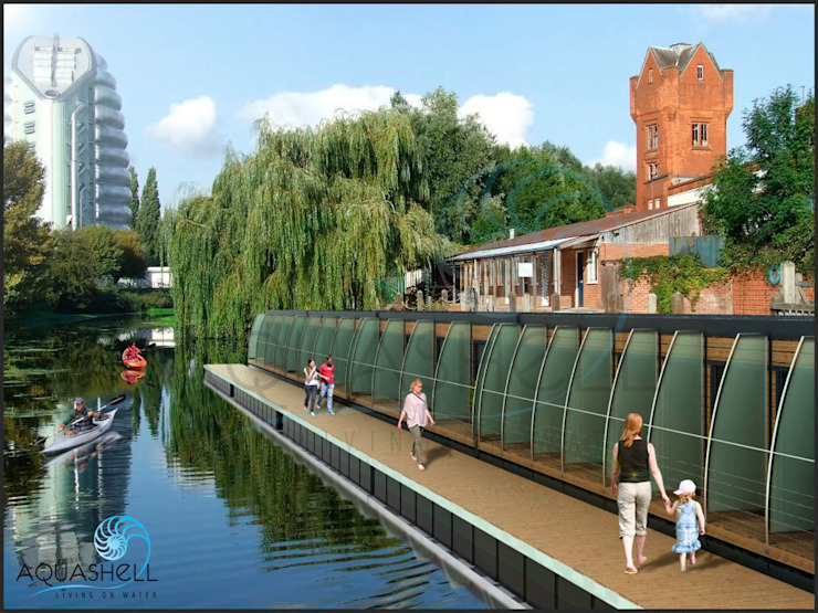 Aquashell proposed Hotel rooms with ensuite facilities โดย Floating Habitats T/A AQUASHELL มินิมัล