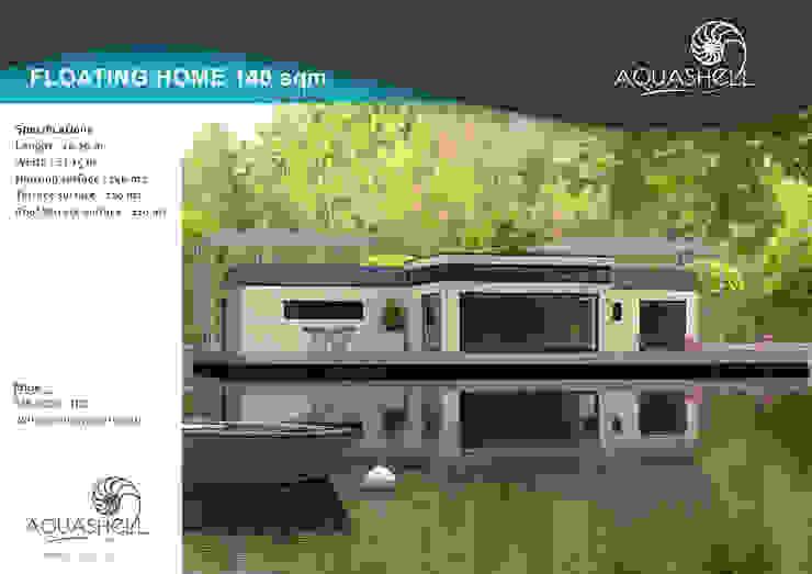 Aquashell 140 sq mtr Home design Modern houses by Floating Habitats T/A AQUASHELL Modern