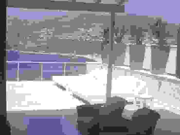 A Holiday Home in Turkey Modern balcony, veranda & terrace by Sarah Ward Associates Modern